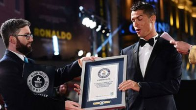 """Роналдо получи сертификат от """"Гинес"""" за рекорда"""
