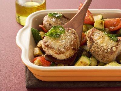 Свинско филе със зеленчуци