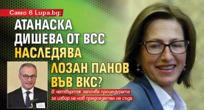 Само в Lupa.bg: Атанаска Дишева от ВСС наследява Лозан Панов във ВКС?