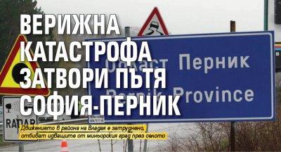 Верижна катастрофа затвори пътя София-Перник