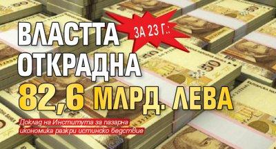 За 23 г.: Властта открадна 82,6 млрд. лева