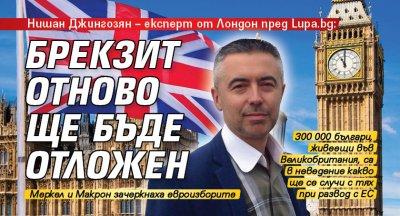 Нишан Джингозян – експерт от Лондон пред Lupa.bg: Брекзит отново ще бъде отложен