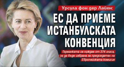 Урсула фон дер Лайен: ЕС да приеме Истанбулската конвенция