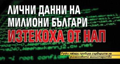 Лични данни на милиони българи изтекоха от НАП