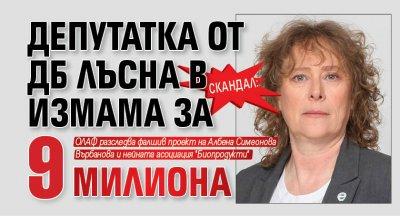Скандал: Депутатка от ДБ лъсна в измама за 9 милиона
