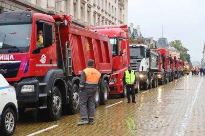 Приключи протестът на пътните строители в София, утре пак