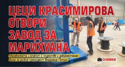 Цeци Крacимирoвa отвори завод за марихуана (Снимки)