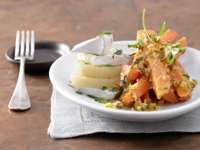 Джинджифилови чили моркови със сирена