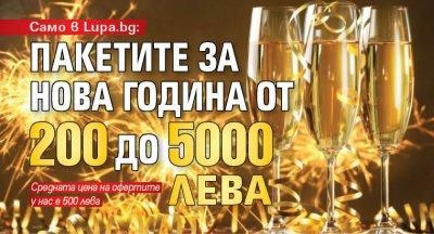 Само в Lupa.bg: Пакетите за Нова година от 200 до 5000 лева