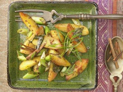 Индийски лимонени картофки с куркума (СТЪПКА ПО СТЪПКА)