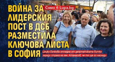 Само в Lupa.bg: Война за лидерския пост в ДСБ разместила ключова листа в София