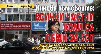 Само в Lupa.bg: Нинова към своите: Всички частни коли са общи за БСП