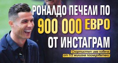 Роналдо печели по 900 000 евро от инстаграм