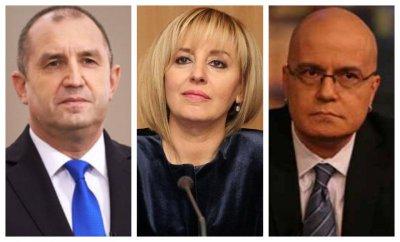 Галъп: Манолова, Радев и Слави са с най-висок рейтинг