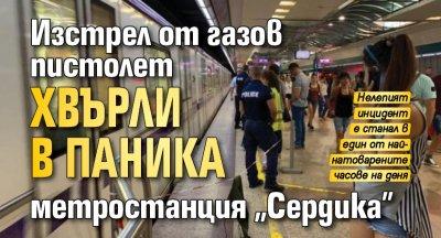 """Изстрел от газов пистолет хвърли в паника метростанция """"Сердика"""""""