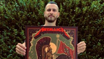 Дидо Пешев - първият българин с официален плакат на Metallica