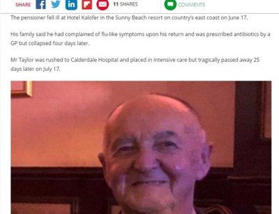 Втори британски турист е починал от легионерска болест след почивка в Слънчев бряг