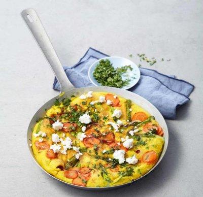 Зеленчуков омлет с палачинково тесто