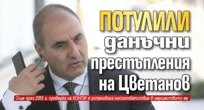 Потулили данъчни престъпления на Цветанов