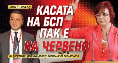 Само в Lupa.bg: Касата на БСП пак е на червено