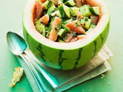 Диня салата с краставица