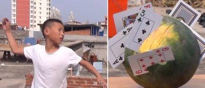 Китайче реже диня с карти