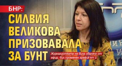 БНР: Силвия Великова призовавала за бунт