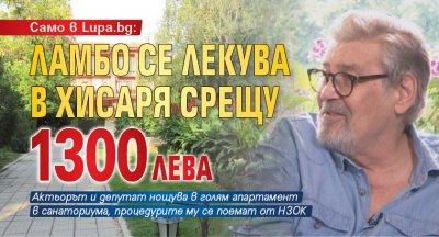 Само в Lupa.bg: Ламбо се лекува в Хисаря срещу 1300 лева