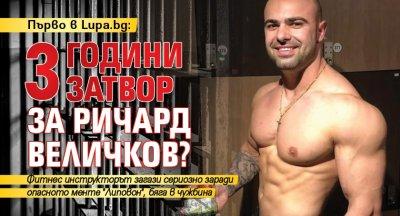 Първо в Lupa.bg: 3 години затвор за Ричард Величков?