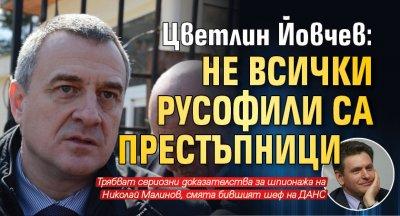 Цветлин Йовчев: Не всички русофили са престъпници