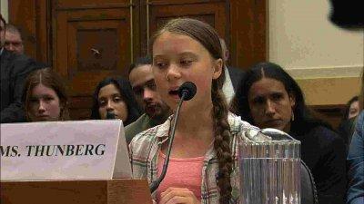 Екошведката Грета говори пред щатския Конгрес