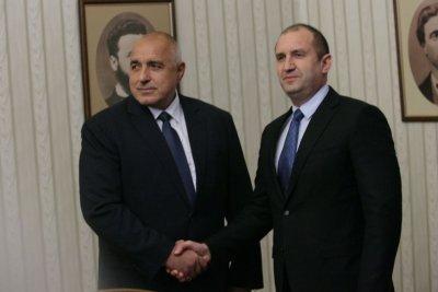 Борисов пристигна за срещата при Радев