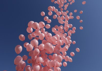 1200 розови балони полетяха в небето за жените с рак на гърдата (СНИМКИ)