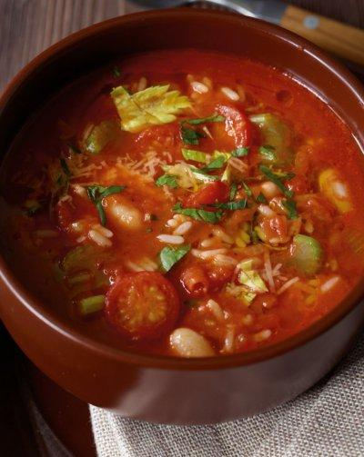 Зеленчуково варено с боб и ориз