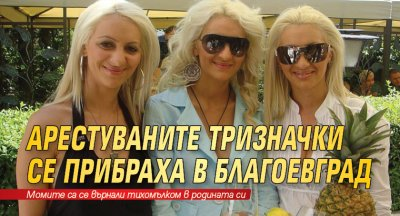 Арестуваните тризначки се прибраха в Благоевград