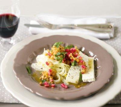 Леща салата със сирене и алабаш