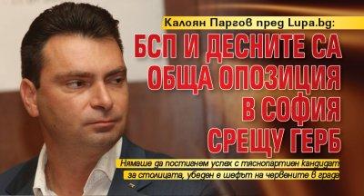 Калоян Паргов пред Lupa.bg: БСП и десните са обща опозиция в София срещу ГЕРБ