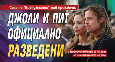 """Сагата """"Бранджелина"""" май приключи: Джоли и Пит официално разведени"""
