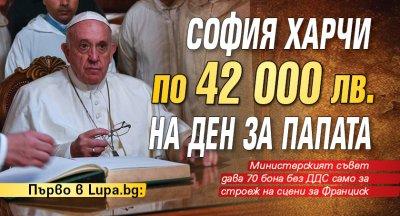 София харчи по 42 000 лв. на ден за папата