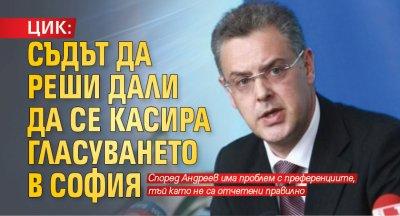 ЦИК: Съдът да реши дали да се касира гласуването в София