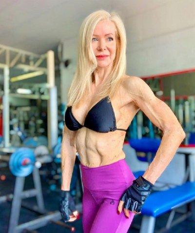 Бабка на 63 стана фитнес икона (УНИКАЛНИ СНИМКИ)