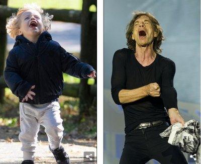 2-годишният син на Мик Джагър е копие на рокдинозавъра