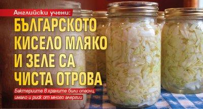 Английски учени: Българското кисело мляко и зеле са чиста отрова