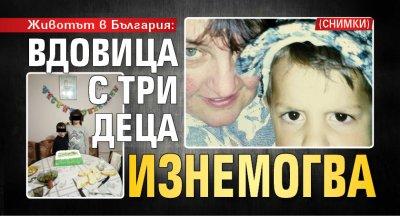 Животът в България: Вдовица с три деца изнемогва (СНИМКИ)