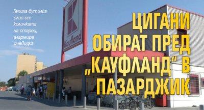 """Цигани обират пред """"Кауфланд"""" в Пазарджик"""