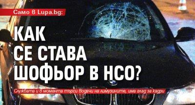Само в Lupa.bg: Как се става шофьор в НСО?