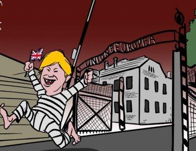 Обявиха за циник карикатуриста, нарисувал Джонсън с нацистки лагер