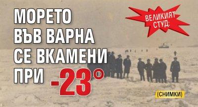 Великият студ: Морето във Варна се вкамени при -23°(СНИМКИ)