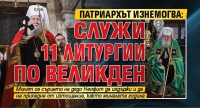 Патриархът изнемогва: Служи 11 литургии по Великден