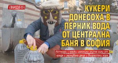 Кукери донесоха в Перник вода от Централна баня в София (ВИДЕО)